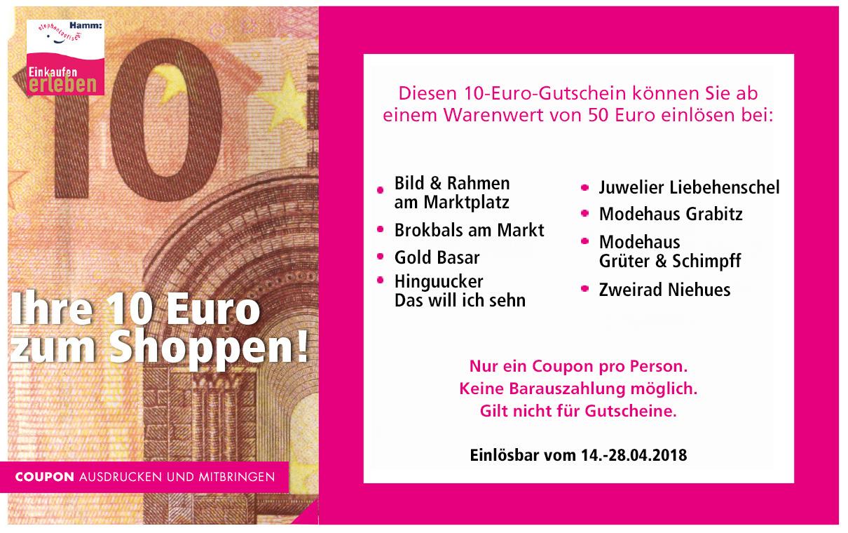 Jetzt 10 Euro sparen